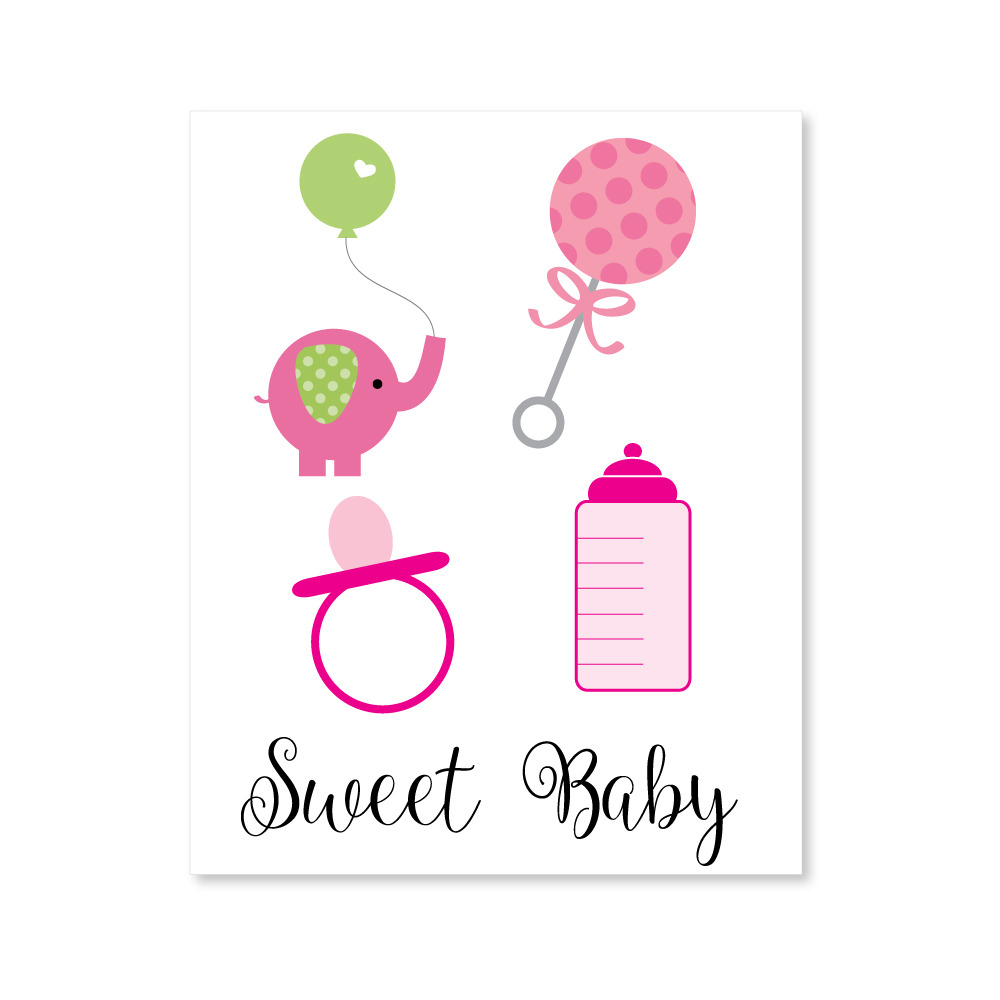baby shower girl clipart print it baby