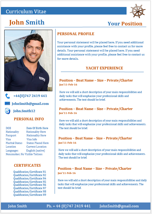 examples of yacht stewardess cv  style guide - myths - essay writing center