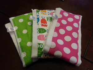 Custom Baby Burp Cloth Set