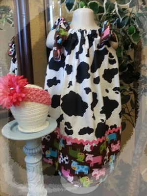 Adorable Cow Print Pillowcase Dress