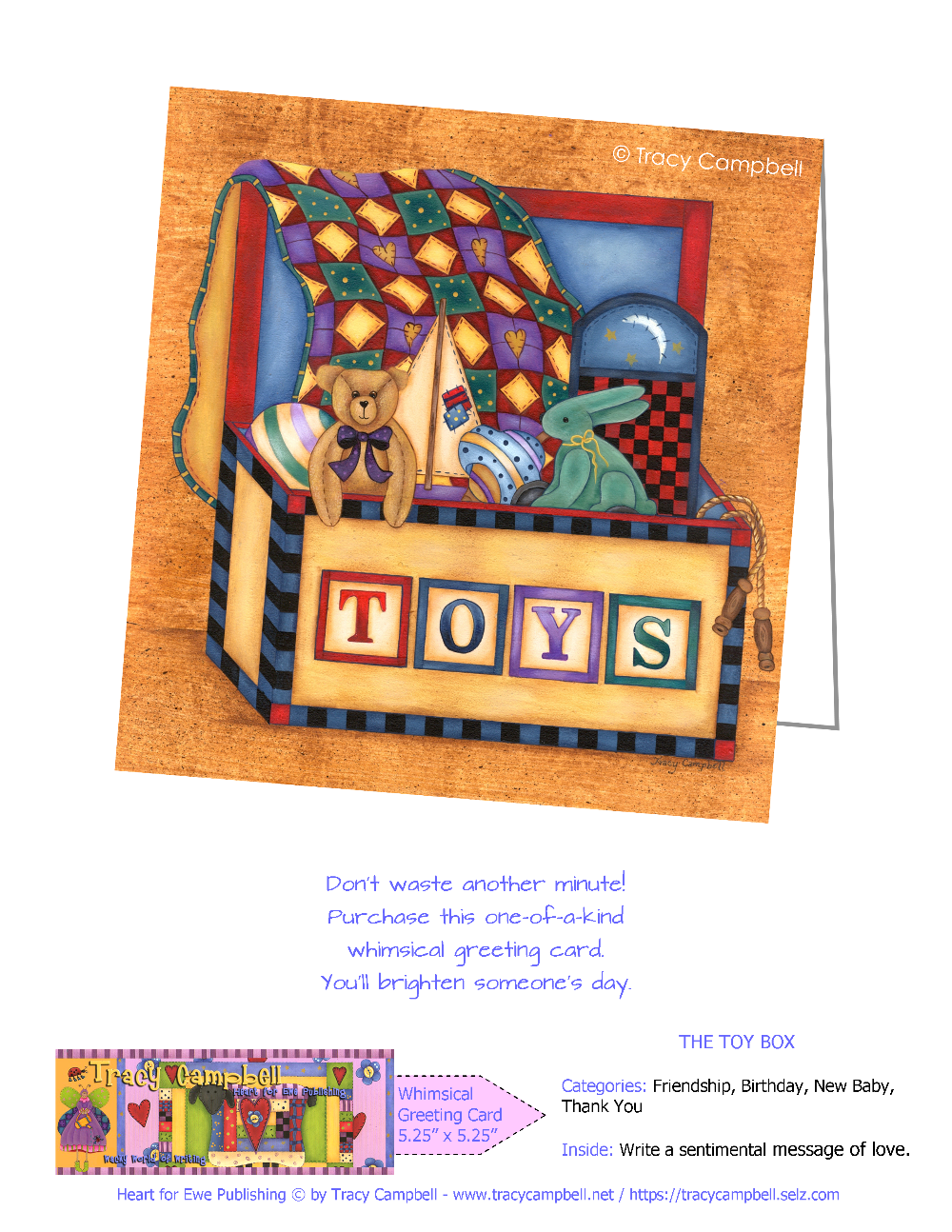 THE TOY BOX GREETING CARD