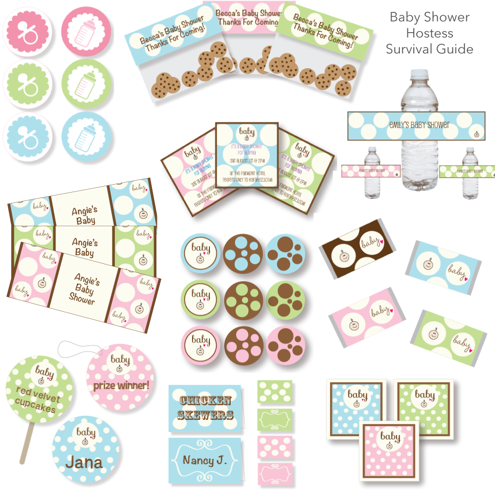 Printable Baby Shower Hostess Survival Guide