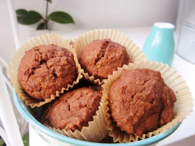 Chocolate and Zucchini Mini Muffins